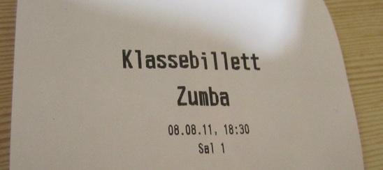 Klassebillett Zumba