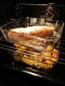Middag stekes ferdig i ovnen