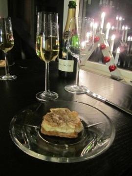 Forrett og champagne