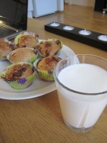 Muffins med brunost og melk
