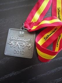 Medalje etter endt løp