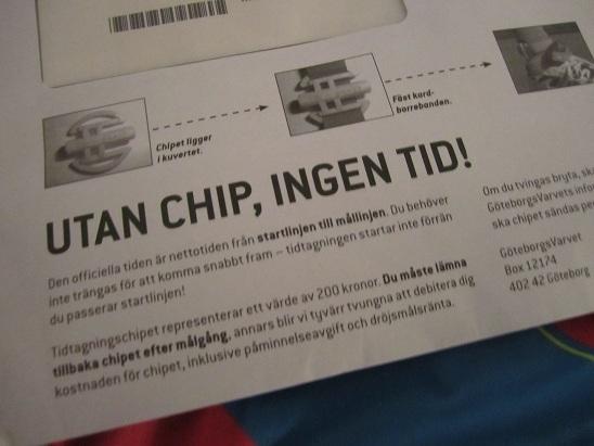 Utan chip, ingen tid!